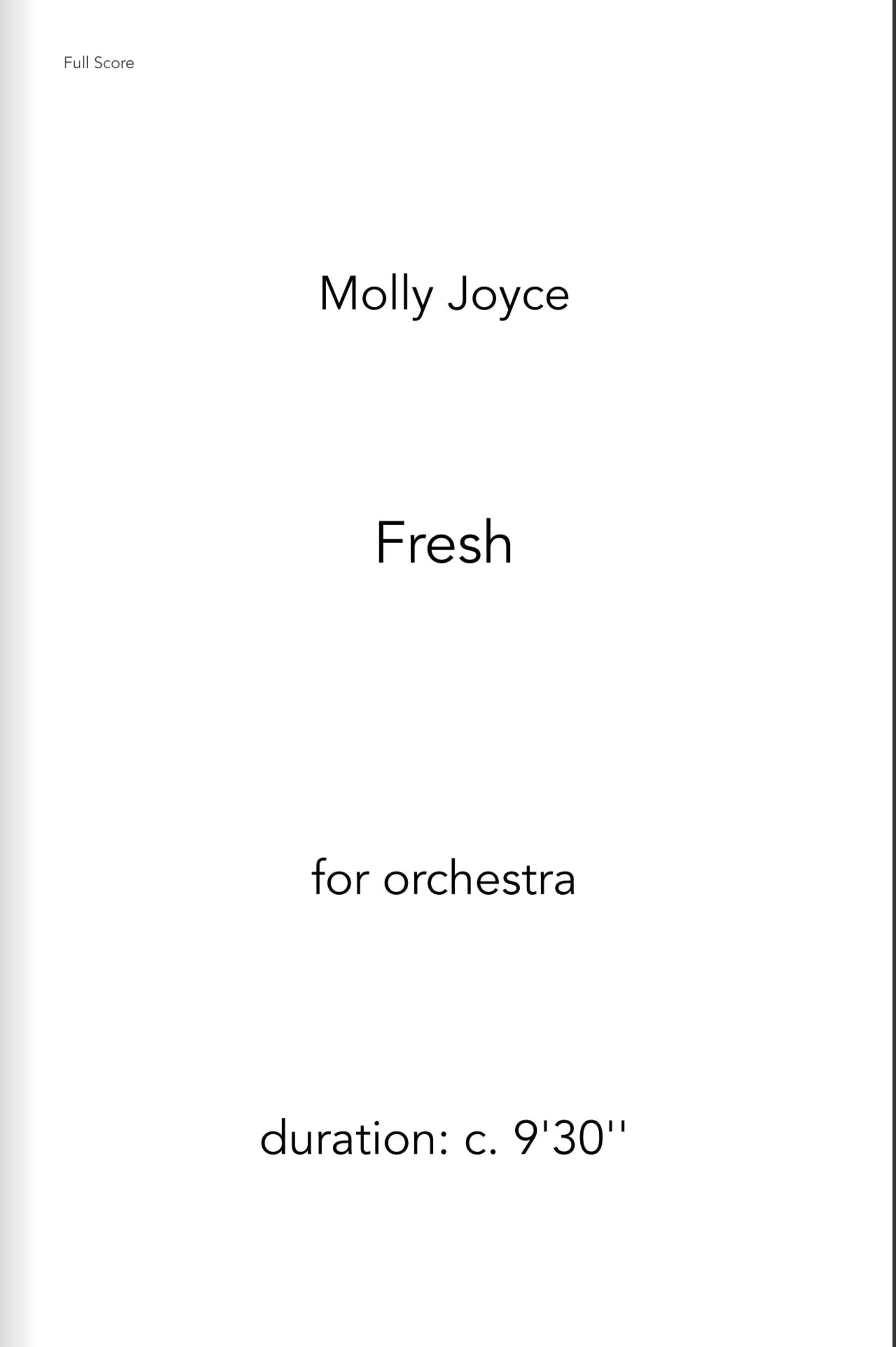Fresh by Molly Joyce