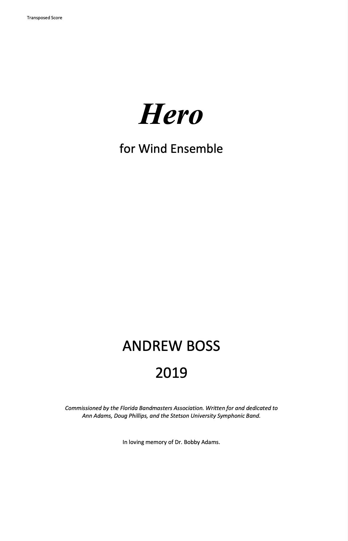 Hero by Andrew Boss
