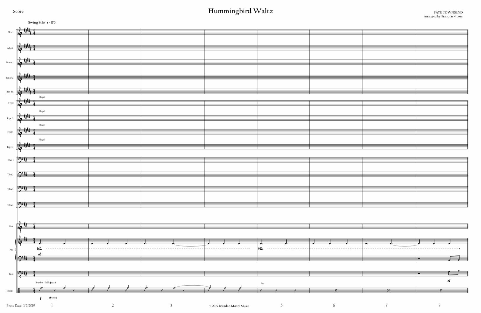 Hummingbird Waltz by Brandon Moore