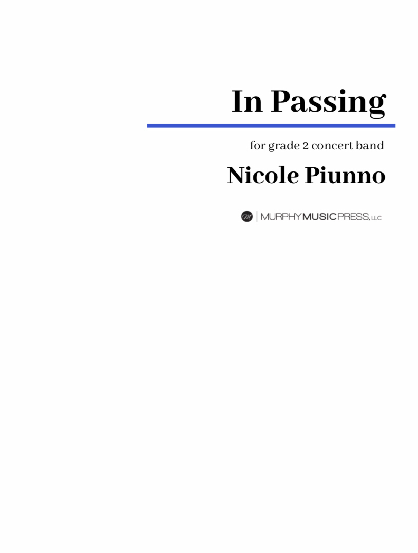 In Passing by Nicole Piunno