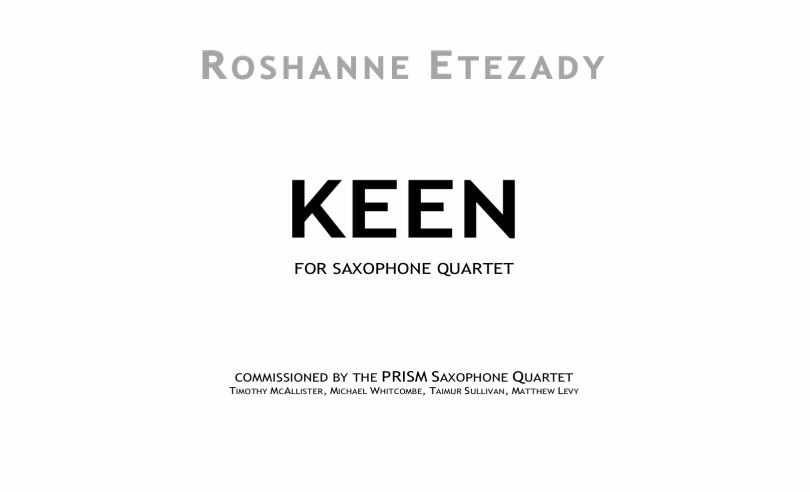 Keen by Roshanne Etezady