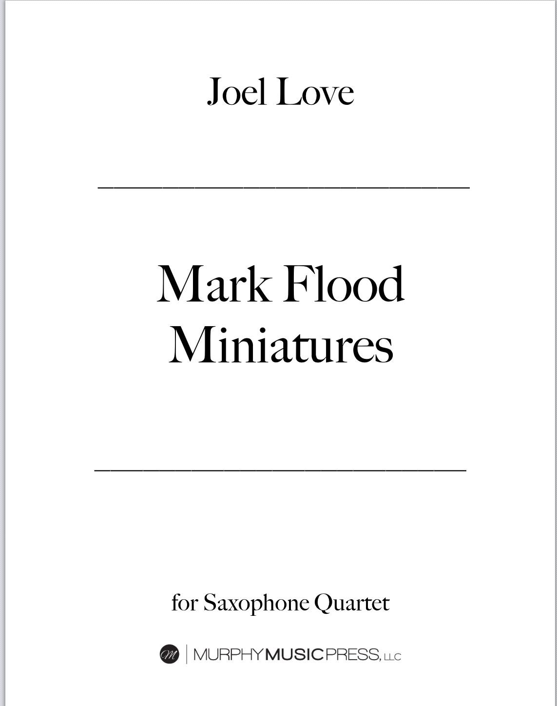 Mark Flood Minatures  by Joel Love
