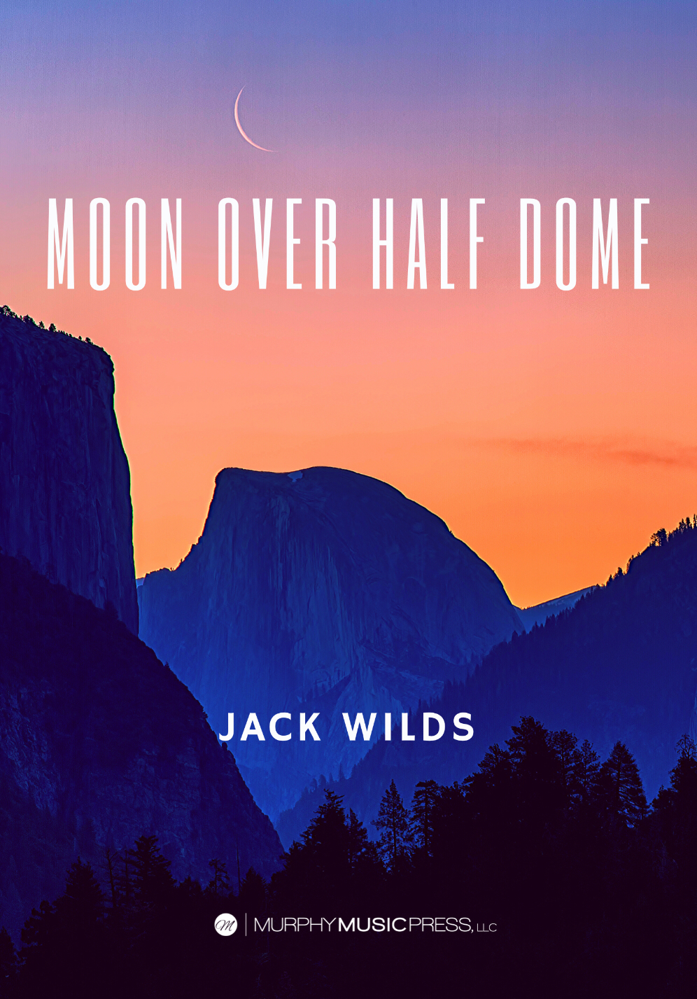 Moon Over Half Dome by Jack Wilds