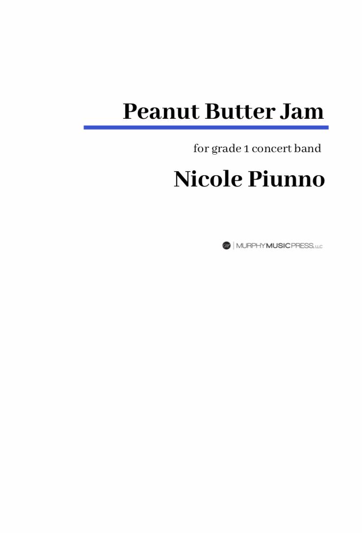Peanut Butter Jam by Nicole Piunno