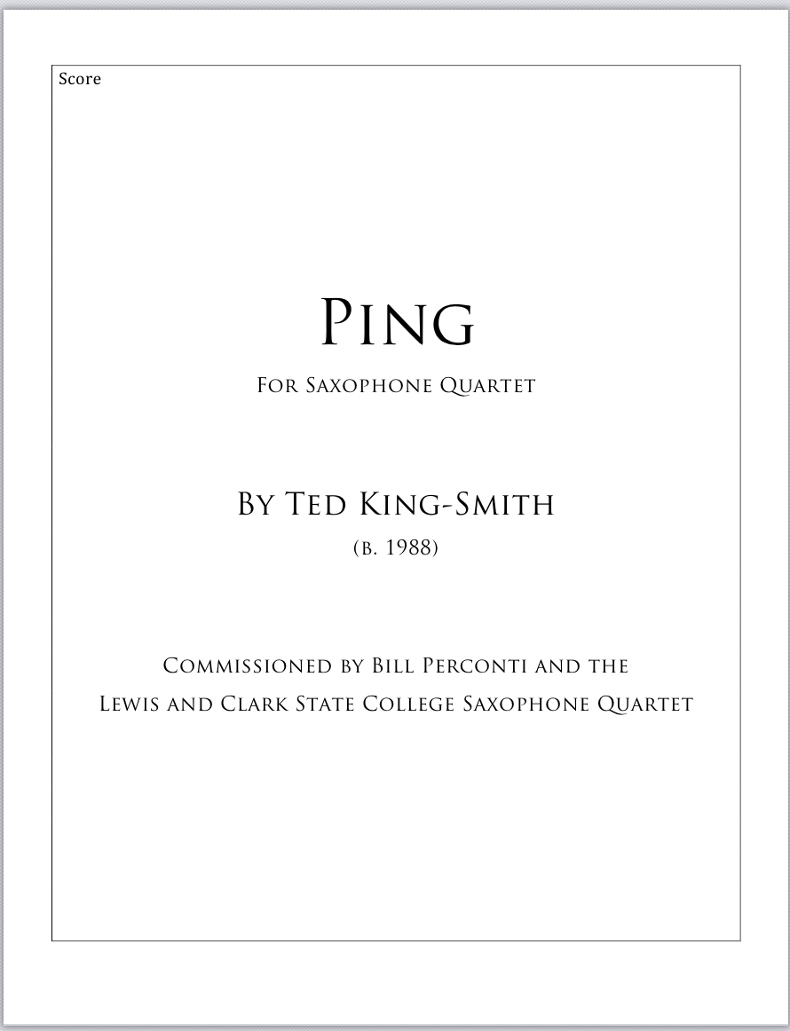 Ping by Ted King-Smith
