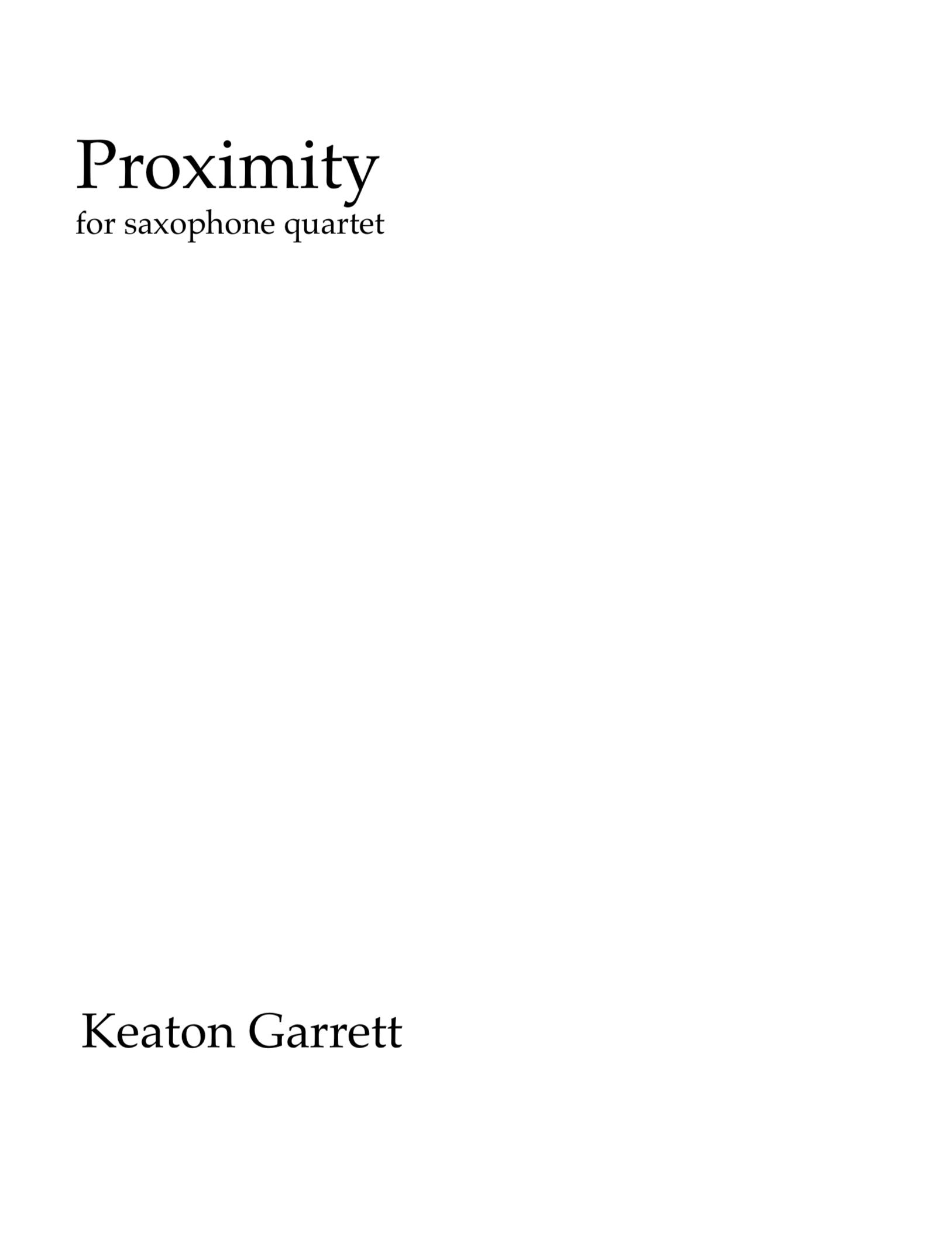 Proximity by Keaton Garrett