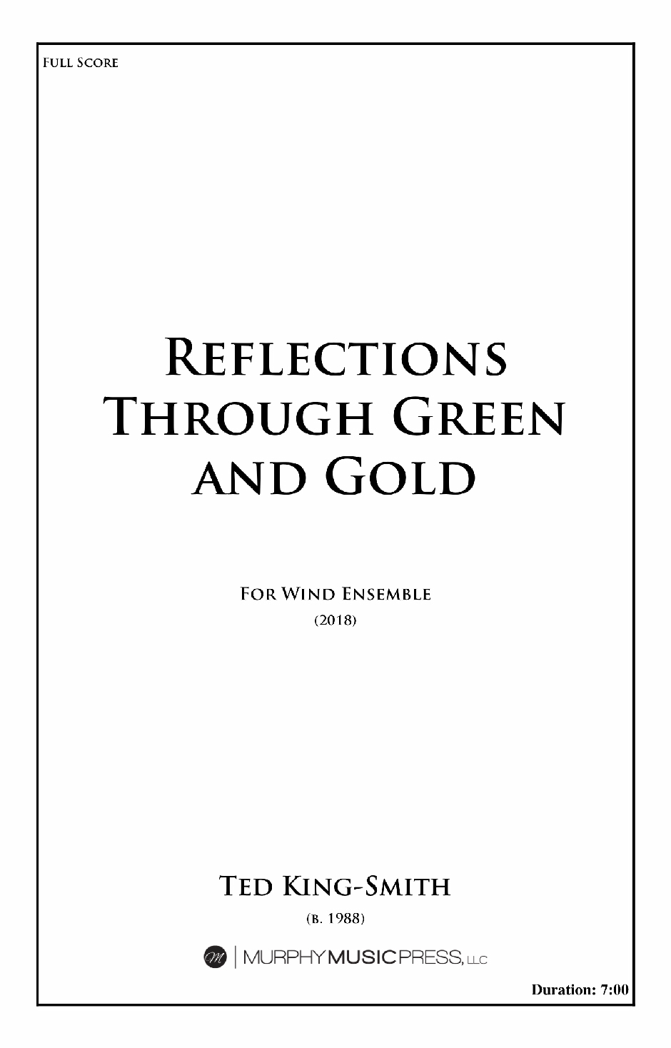 Reflections Through Green And Gold (Score Only) by Ted King Smith