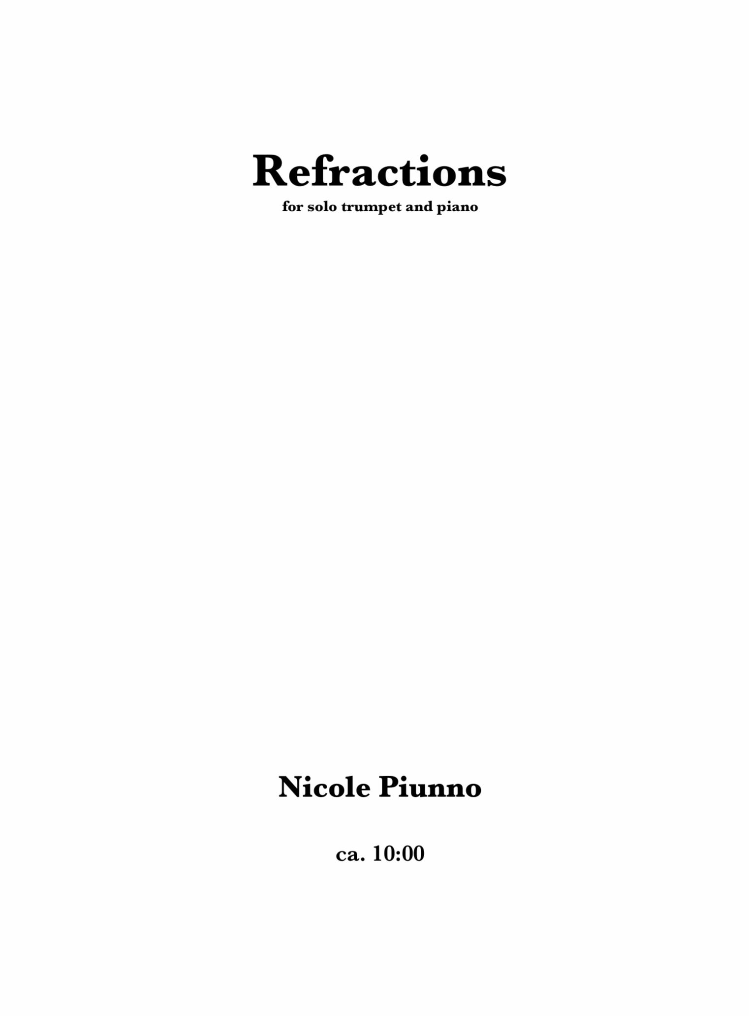 Refractions by Nicole Piunno