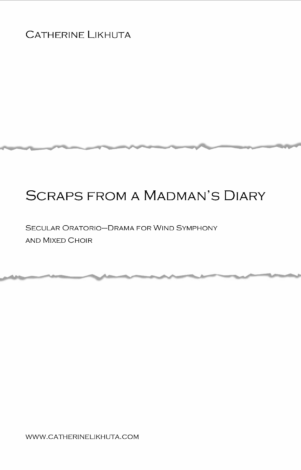 Scraps From A Madman's Diary by Catherine Likhuta