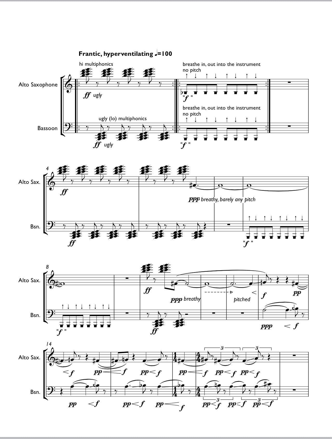 Snapshots (saxophone Bassoon Version) by Takuma Itoh