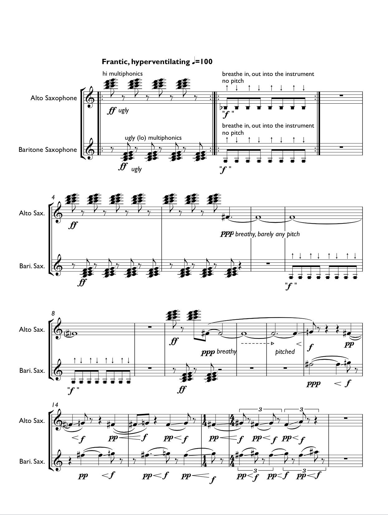 Snapshots (saxophone Duet Version) by Takuma Itoh