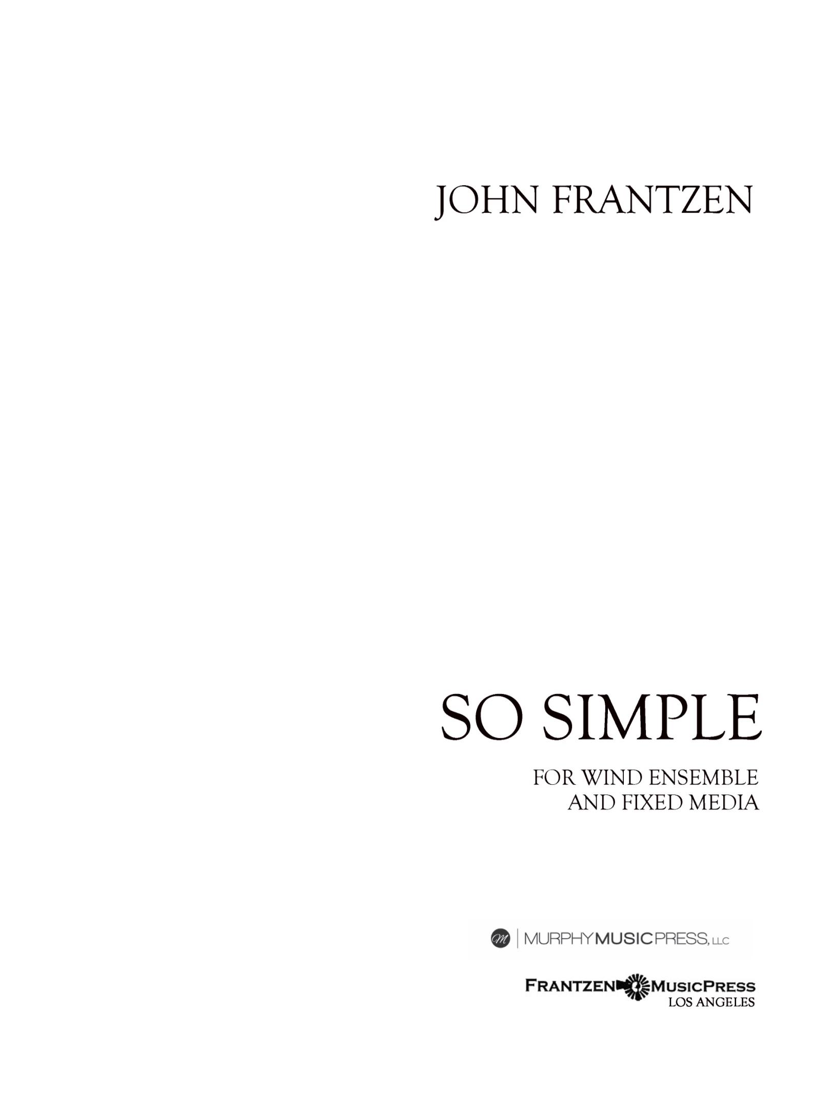 So Simple (Parts Rental Only) by John Frantzen