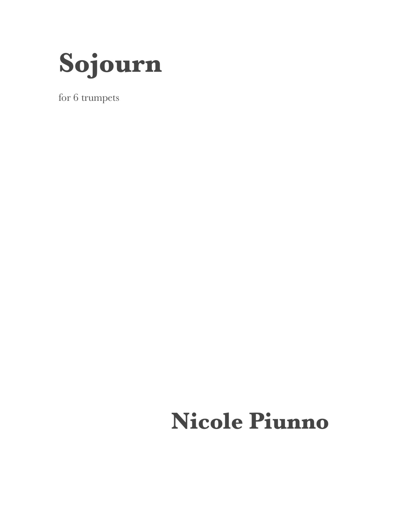 Sojourn  by Nicole Piunno