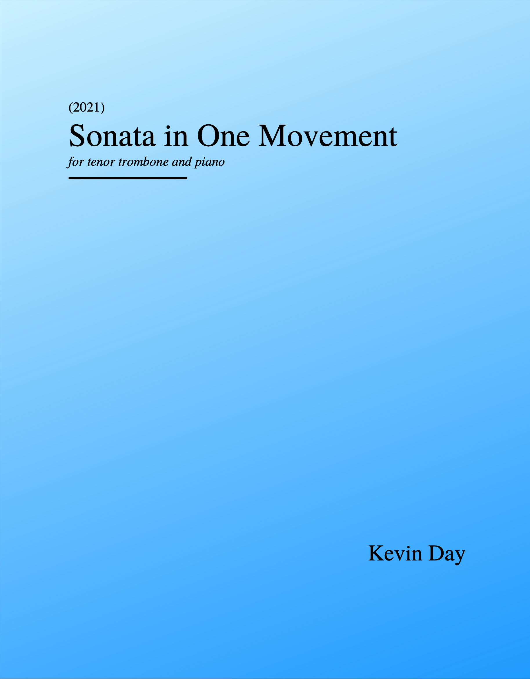 Sonata In One Movement by Kevin Day