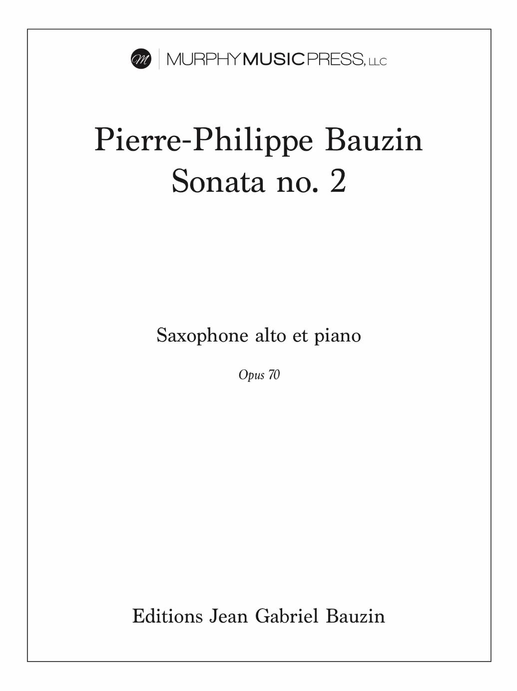 Sonata No. 2 by Pierre-Philippe Bauzin