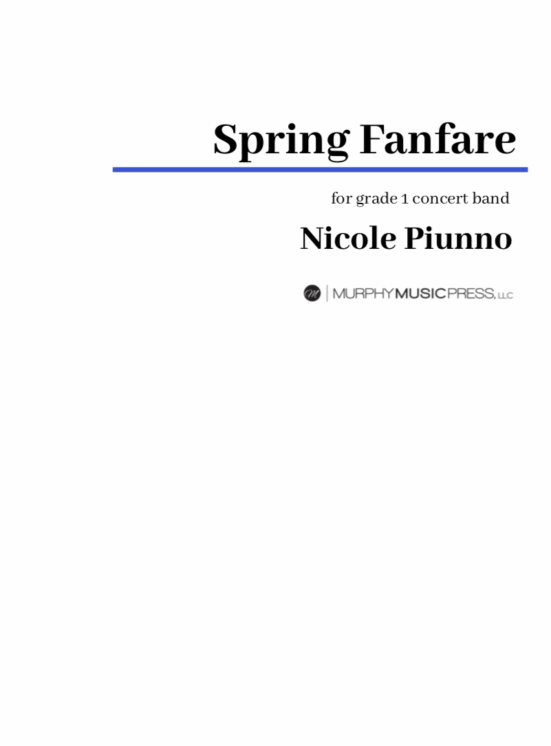 Spring Fanfare (score Only) by Nicole Piunno