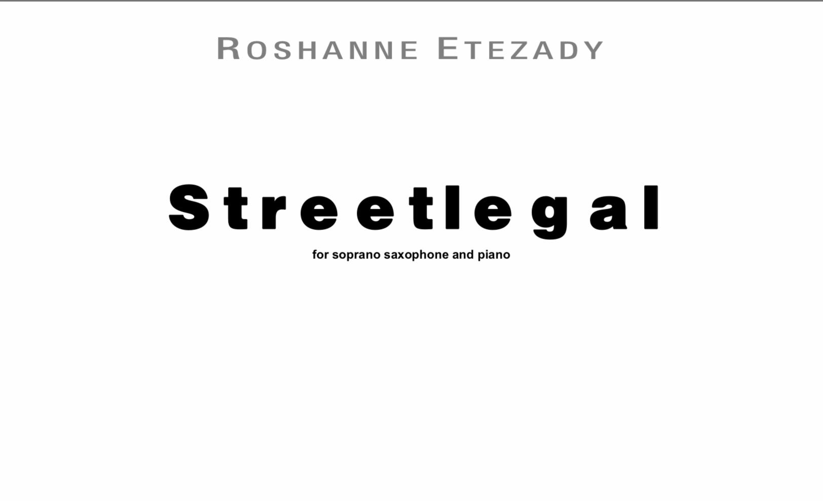 Streetlegal by Roshanne Etezady