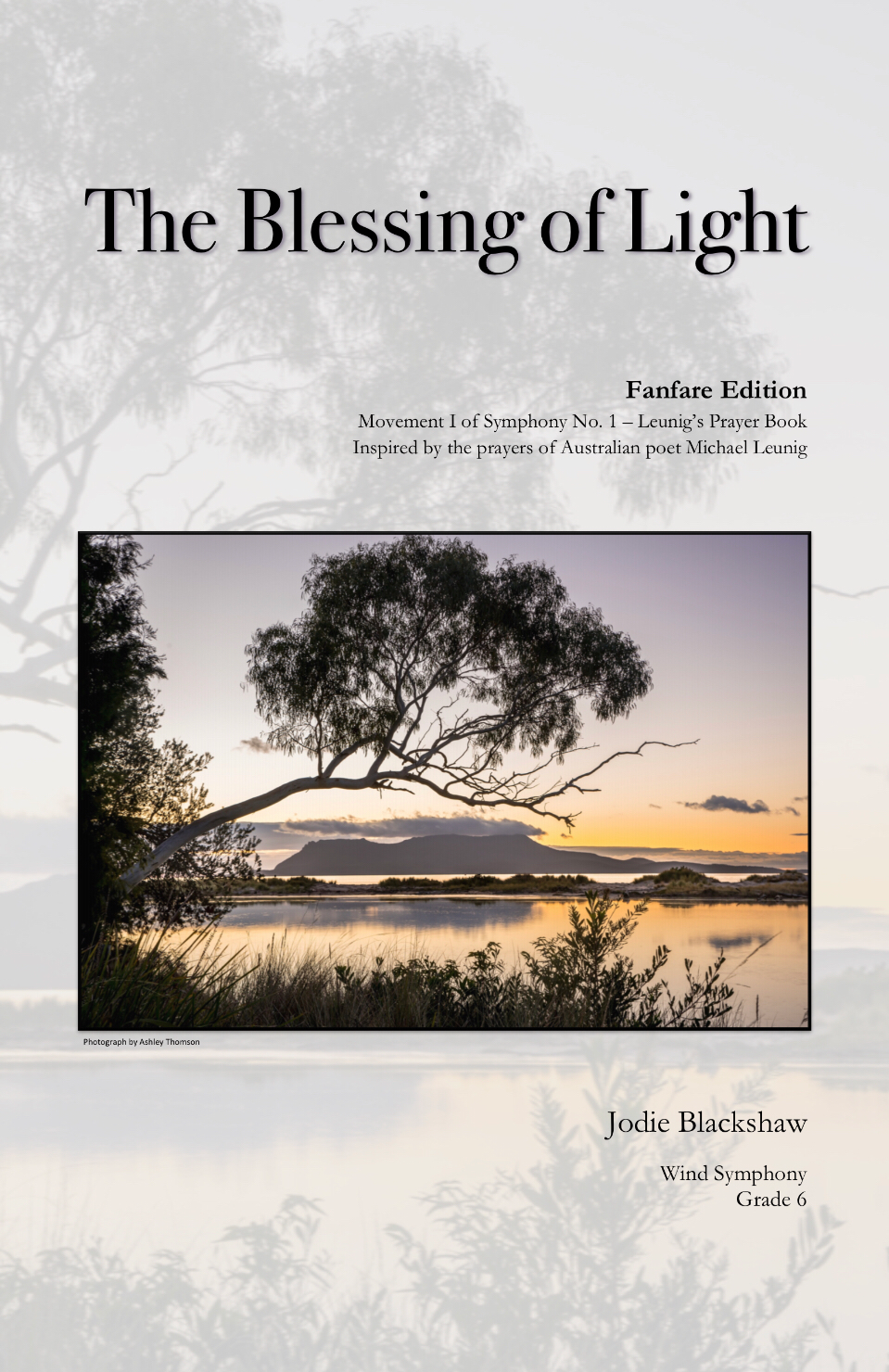 The Blessing Of Light (Score Only) by Jodie Blackshaw