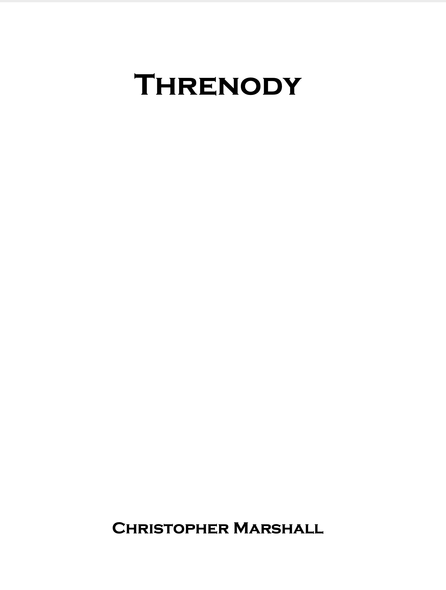 Threnody by Christopher Marshall