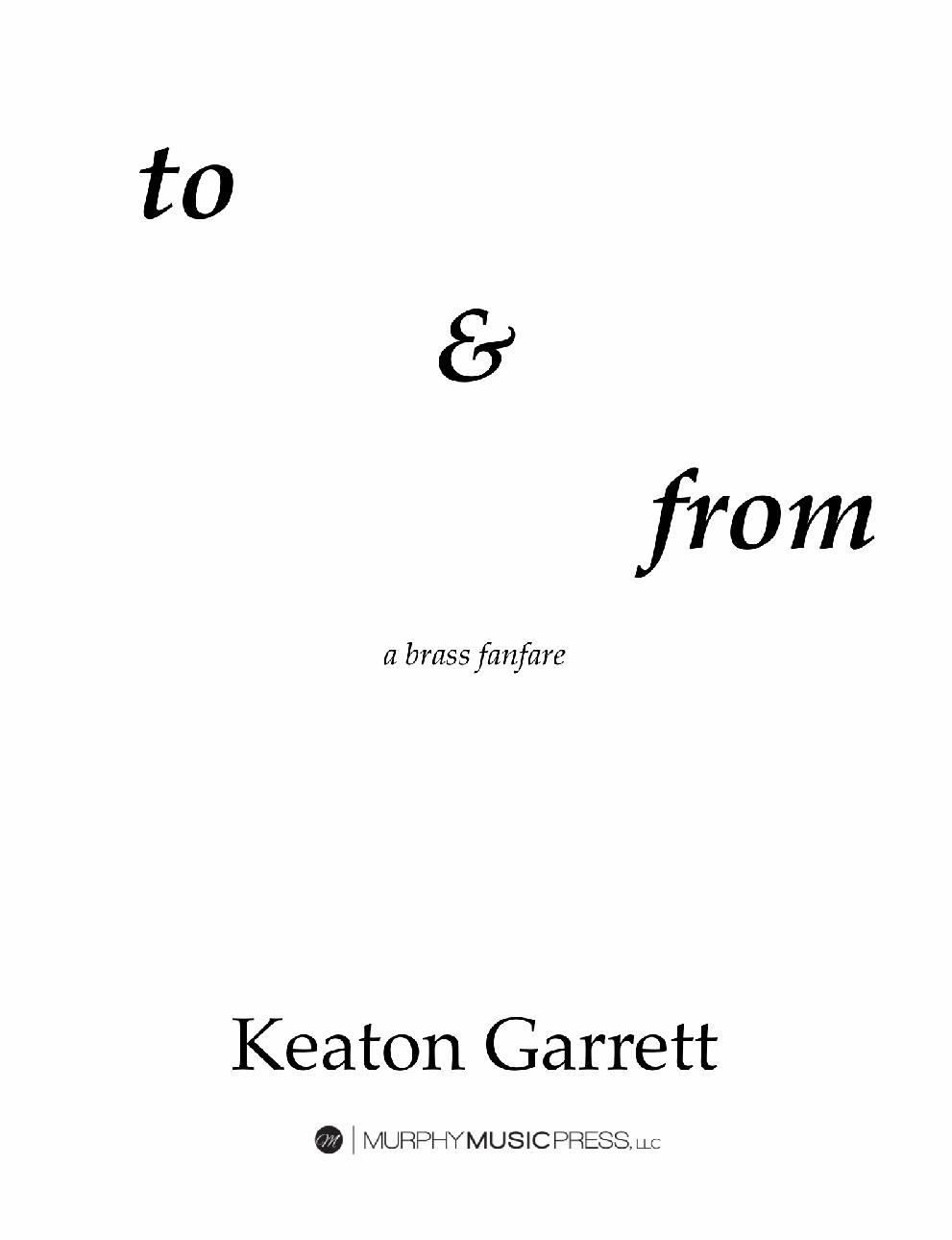 To & From by Keaton Garrett
