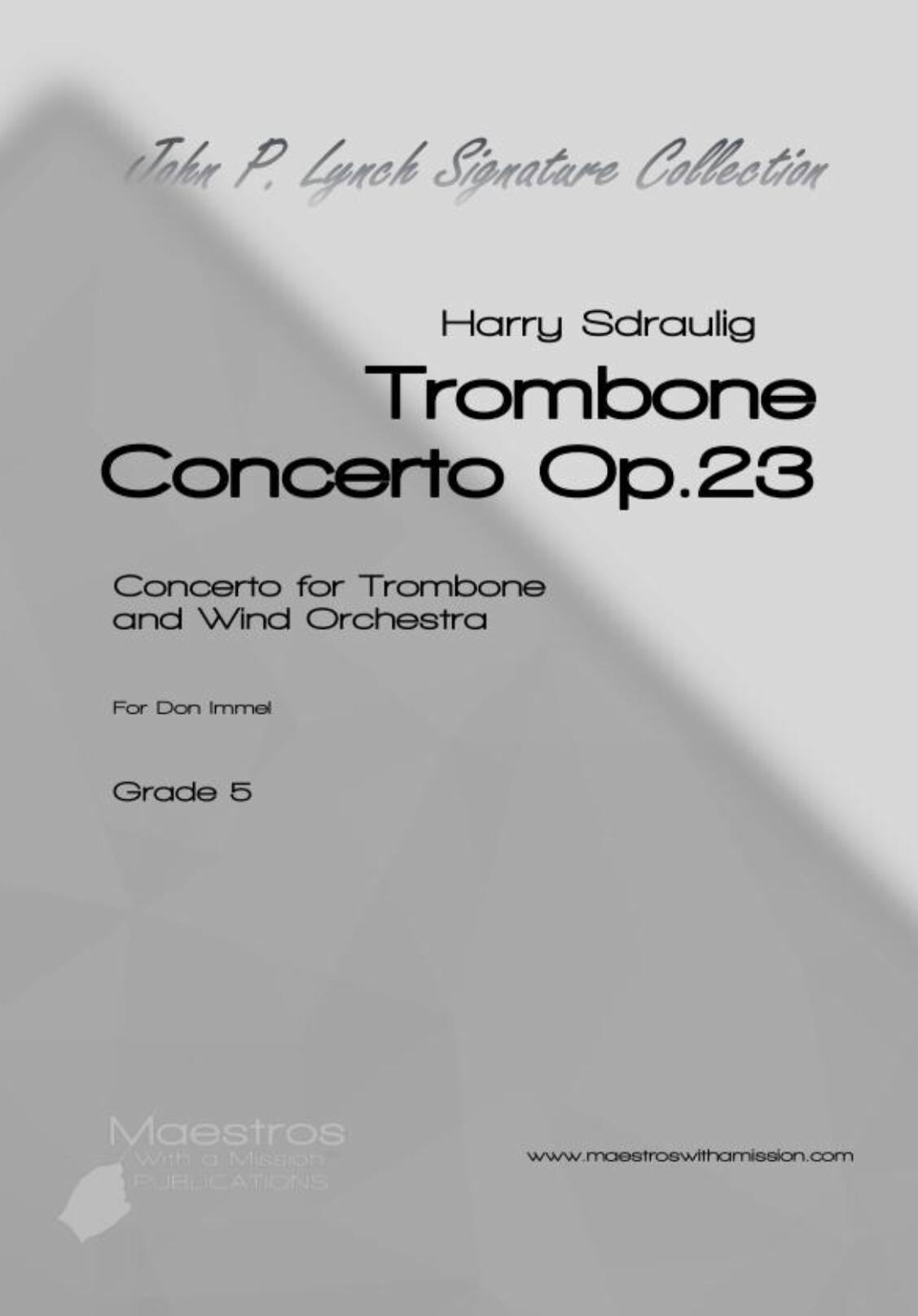 Trombone Concerto, Op. 23 by Harry Sdraulig