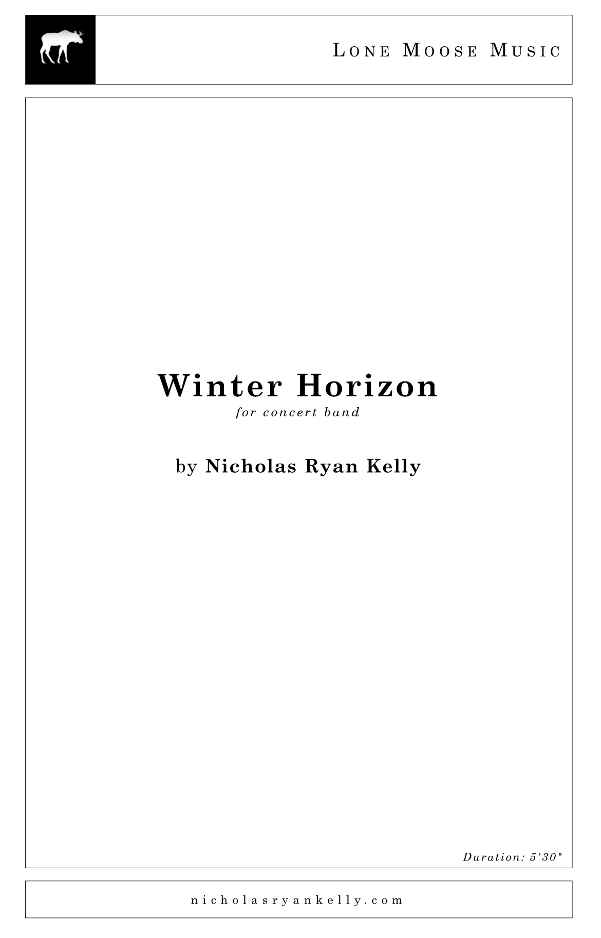 Winter Horizon by Nicholas Ryan Kelly